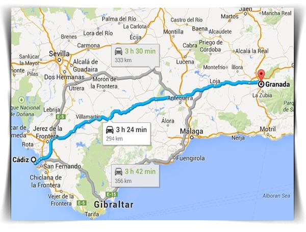 Radio Taxi Cádiz. Rutas locales y nacionales