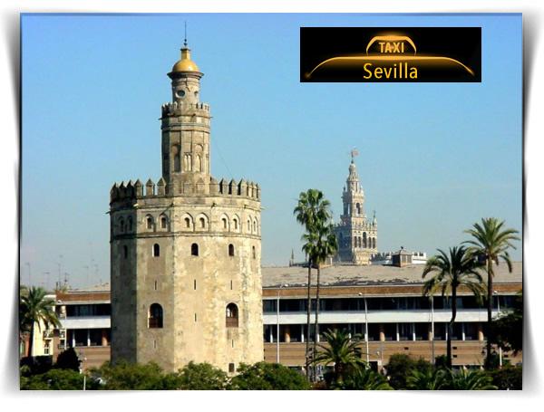 Sevilla. Torre del Oro. Haga turismo en taxi. Precio 4 pax por taxi