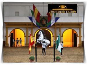 Jerez Escuela Ecuestre. Como bailan los caballos andaluces. Haga turismo en taxi. Precio 4 pax por taxi